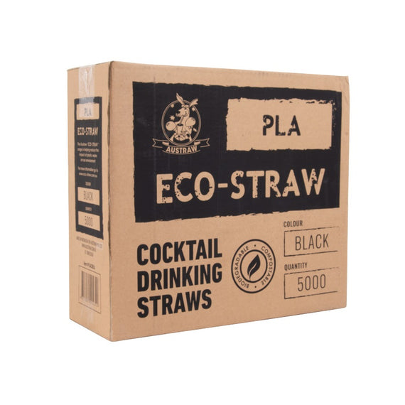 ECOSTRAW OXO BIODEGRADABLE COCKTAIL BLACK (5000)