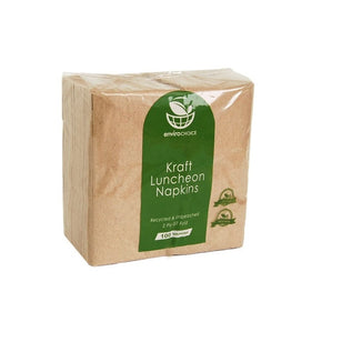 ENVIROCHOICE NAPKIN 2PLY LUNCH BROWNKRAFT GT FOLD (100)