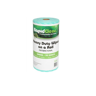 RAPID CLEAN H/D WIPES 45M 50CMX30CM 55GSM GREEN