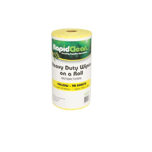 RAPID CLEAN H/D WIPES 45M 50CMX30CM 55GSM YELLOW