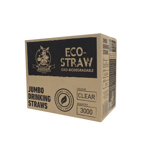 EcoStraw OXO Biodegradable Jumbo Clear (3000)