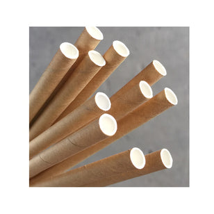 PAPER REGULAR STRAW - KRAFT BROWN (250)