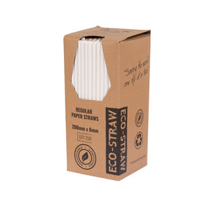PAPER REGULAR STRAW - PLAIN WHITE (250)