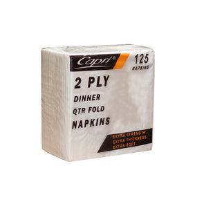 CAPRI 2PLY DINNER NAPKIN WHITE (125)