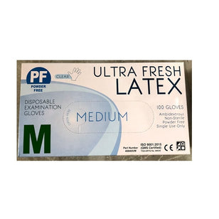 ULTRA FRESH LATEX POWDER FREE GLOVE MEDIUM (100)
