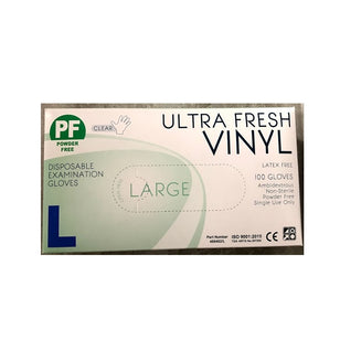 ULTRA FRESH VINYL POWDER FREE GLOVE LARGE (100)
