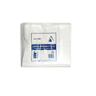 PREMIUM LARGE CHECKOUT BAGS WHITE [250]