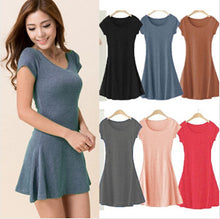 Load image into Gallery viewer, Mini Dress - Short Sleeve - Slim Fit Dress - Available in Several Colors