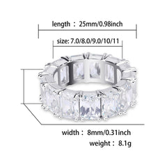 Load image into Gallery viewer, 1 Row Solitaire Tennis Men's Ring - Cubic Zircon - Iced Ring - Fashion Jewelry Gift