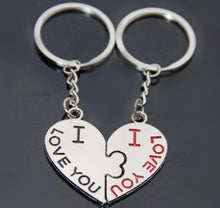 Load image into Gallery viewer, Creative Kiss Love Heart - Couple Key chain - Love Present Valentines Gift 2 Pieces / Pair set