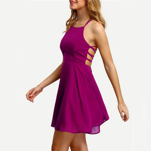 Sleeveless Mini Dress O-neck - Casual & Elegant - Available in Several Colors