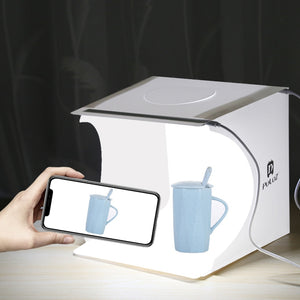 Mini Folding Light box - Photo Studio Soft - 2 Panel LED Light - Kit Light Box