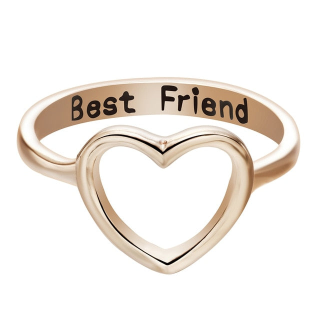 Best Friend Heart Ring Heart (Available in size 7 only) Jewelry