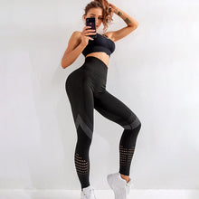 Load image into Gallery viewer, Leggings - NORMOV Casual Leggings - Fitness High Waist - Push Up - Patchwork - Spandex Seamless Leggings