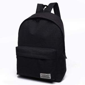Men/Women Canvas Backpack Black Travel For Teenagers