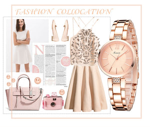 KIMIO - Thin Rose Gold Quartz Fashion Ladies Watch - Low prices everyday!