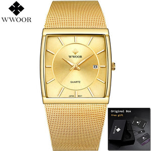 Men's Square Quartz Watch With Date - Low prices everyday!