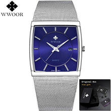 Load image into Gallery viewer, Men's Square Quartz Watch With Date - Low prices everyday!