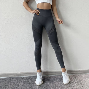 NORMOV Seamless Leggings - Casual High Waist - Push Up - Ankle Length - Workout Fitness