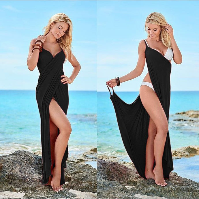 Cover Up Warp Pareo Dress Backless Swimwear Beach Dress Sling Beach Wear