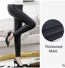 Load image into Gallery viewer, High Waist Leather Leggings Black Light/Matt Thin/Thick Fitness Push Up Slim