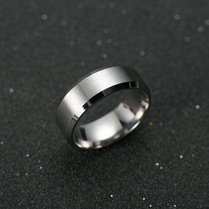 8 mm Black Ring For Men - Jewelry