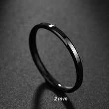 Load image into Gallery viewer, 6 or 4 mm - Steel Black Ring - jewelry - Men/Women