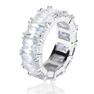 1 Row Solitaire Tennis Men's Ring - Cubic Zircon - Iced Ring - Fashion Jewelry Gift