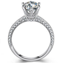 Load image into Gallery viewer, 2.0 ct Synthetic Diamond - Wedding Engagement Ring - 925 Sterling Silver - Jewelry