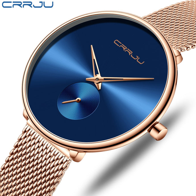 Fashion Ladies Watch By CRRJU - Casual - Mesh Band - Low prices everyday!