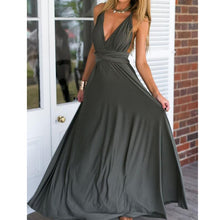 Load image into Gallery viewer, Multi-way Wrap Convertible Maxi Dress Bandage Long Party Bridesmaids