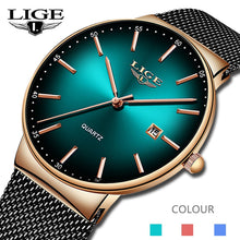 Load image into Gallery viewer, Men's LIGE Sports Date Watch Fashion Ultra Thin Dial Quartz - Low prices everyday!