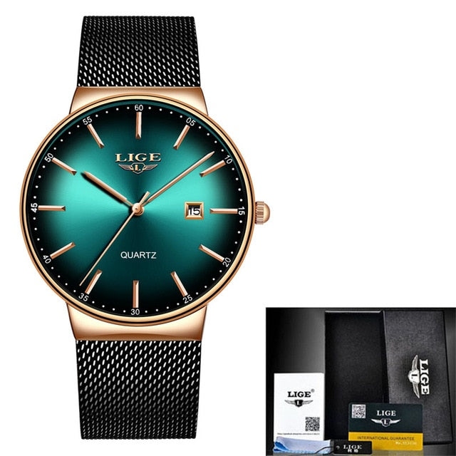 Men's LIGE Sports Date Watch Fashion Ultra Thin Dial Quartz - Low prices everyday!