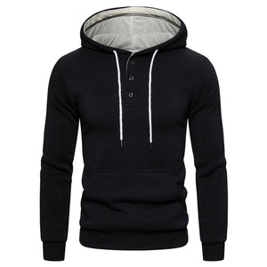 Autumn Winter Cotton Hoodie - Men's Sweatshirt - Solid thick Fleece - Sportswear - Zipper Sweatshirt - Pocket - Giraffe Logo