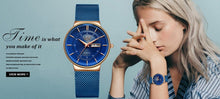 Load image into Gallery viewer, LIGE Ladies Watch - Ultra-thin - Calendar - Quartz - Mesh Stainless Steel Band - Low prices everyday!