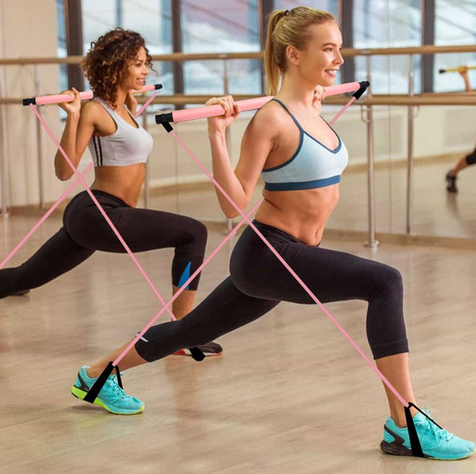 Pilates Resistance Bands & Bar Trainer
