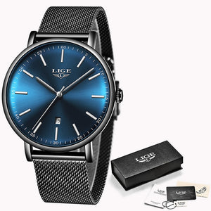 LIGE - Ladies Watch - Fashion Stainless Steel - Ultra-Thin - Casual - Quartz - Low prices everyday!