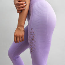 Load image into Gallery viewer, Seamless - Yoga Pants - High Waist - Stitching - Sport - Running Training - Fitness Leggings