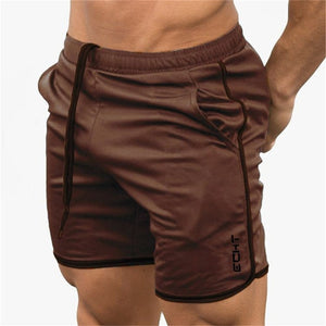 Men's Fitness Bodybuilding Shorts - Summer Gym Workout - Breathable Mesh - Quick Dry Sportswear - Jogger - Casual Shorts