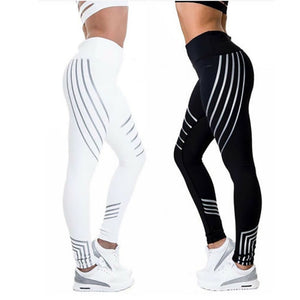 Kaminsky Fitness Leggings - High Elastic Shine Workout - Slim Fit