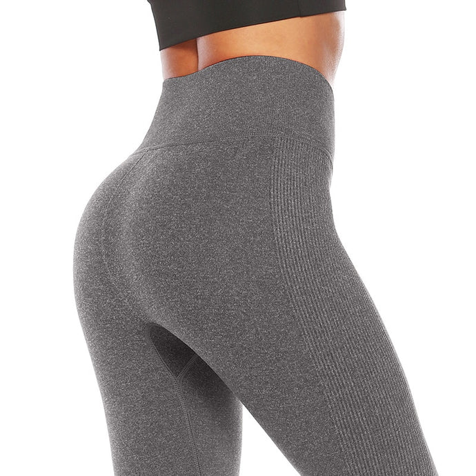 SALSPOR Fitness Leggings - High Waist - Seamless Solid Skinny Leggings
