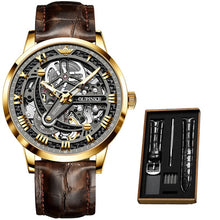 Load image into Gallery viewer, High Quality Swiss Movement Automatic Watch Leather Band