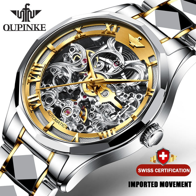 High Quality Swiss Movement Automatic Watch Leather Band