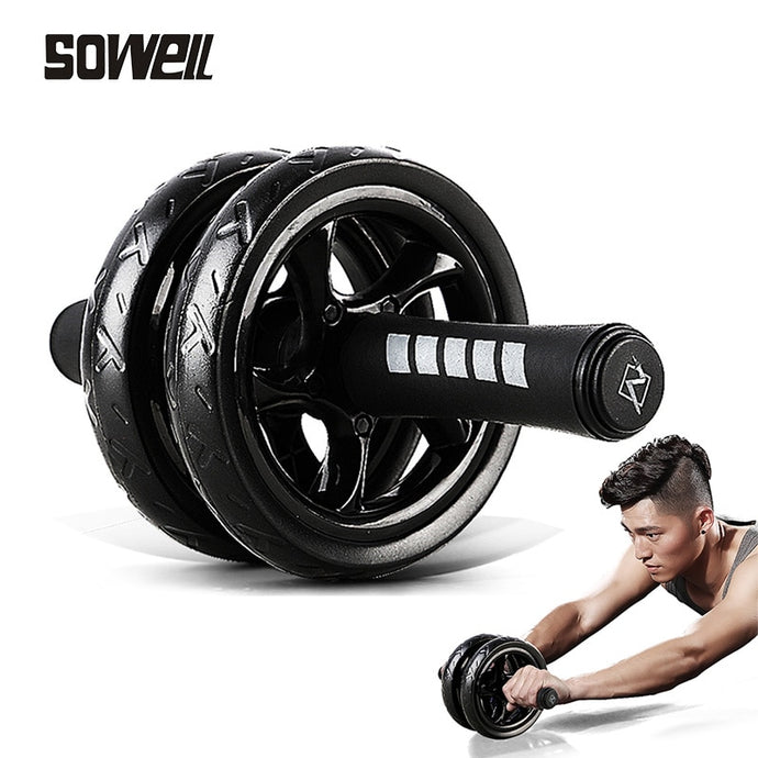 Muscle Exercise Home Fitness Double Wheel Abdominal Power Wheel Ab Roller Gym Trainer