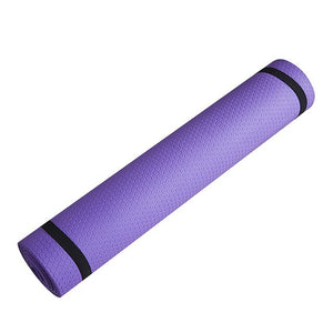 Yoga Mat - Anti-skid - Sports Fitness - 6mm Thick -  EVA Comfort Foam - Exercise, Yoga, and Pilates