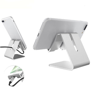 Metal - Aluminum Mobile Phone Stand -  For Most Cell Phones and Small Tablets
