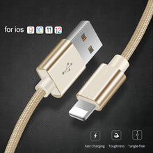 Load image into Gallery viewer, 3.1A Fast Charging USB Cable for iPhone Xs max Xr X 8 7 6 plus 6s 5 s plus ipad mini - Data Transfer - Lightning Cable