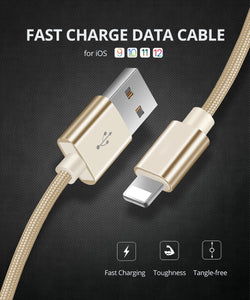 3.1A Fast Charging USB Cable for iPhone Xs max Xr X 8 7 6 plus 6s 5 s plus ipad mini - Data Transfer - Lightning Cable