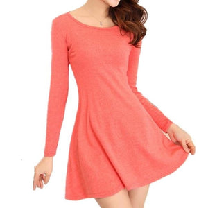 Spring Autumn Dresses Ladies' Long Sleeve Comfortable Dress, Casual Dresses (One Size S to M)