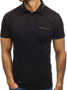 Polo Shirt Men solid color Cotton Short Sleeve M-XXL